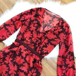 Rebecca Minkoff 100% Silk Floral Dress